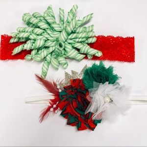 Other - Baby girls headband bundle Christmas